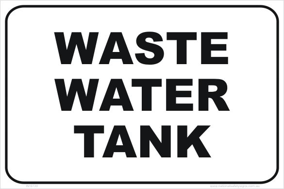 Waste Water Tank In16139 National Safety Signs