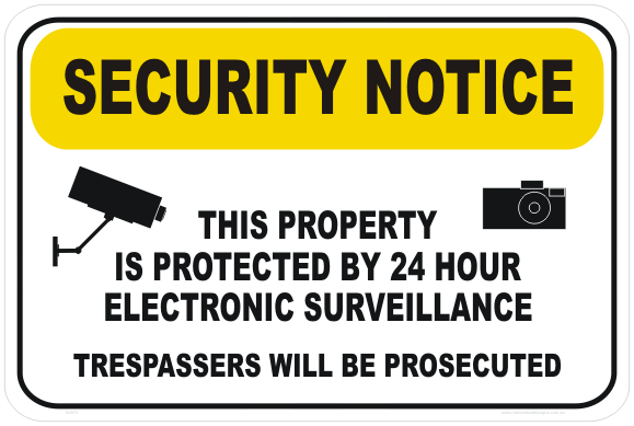 Electronic Surveillance Sign