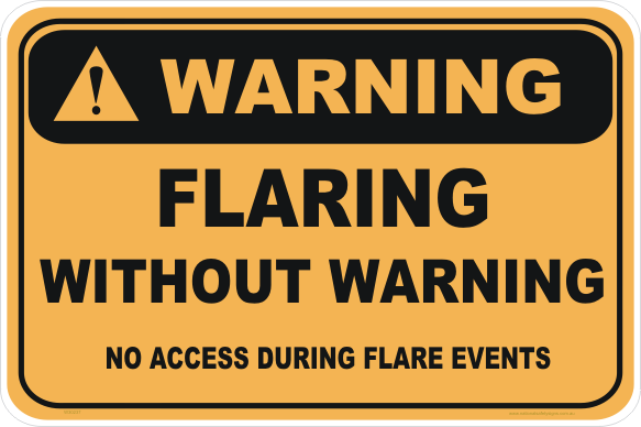Flaring without warning