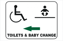 Toilet and baby change sign