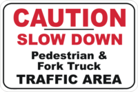 Caution Slow Down sign
