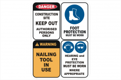 Building site PPE sign