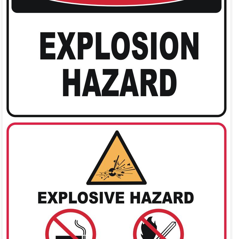 Explosion Hazard sign