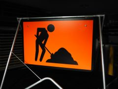 Workmen Ahead Sign and Stand 900 x 600