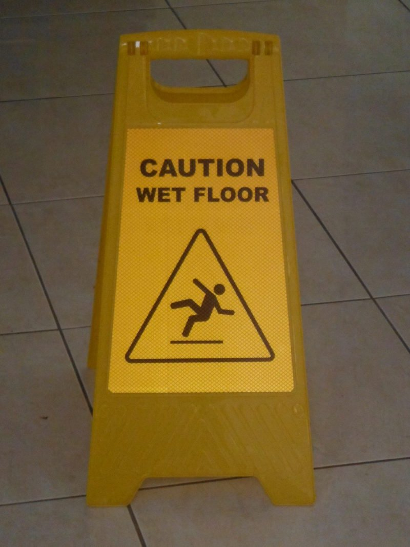 Reflective Wet Floor Sign Stand