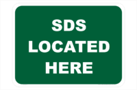 SDS Located Here sign