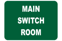 Main Switch Room sign