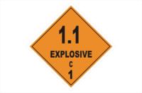 Class 1 Div 1.1 C Explosive sign