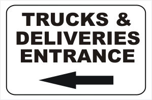 Truck and Deliveries Entrance