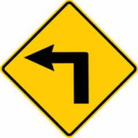 Left Corner Sign