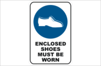 Enclosed Shoes Must be Worn