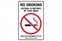 NSW No Smoking within 10 Metres
