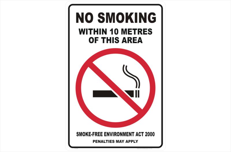 NSW No Smoking within 10 Metres