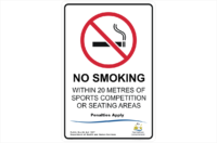 TAS No Smoking within 20 metres of sports area