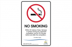Tas No Smoking Golf course