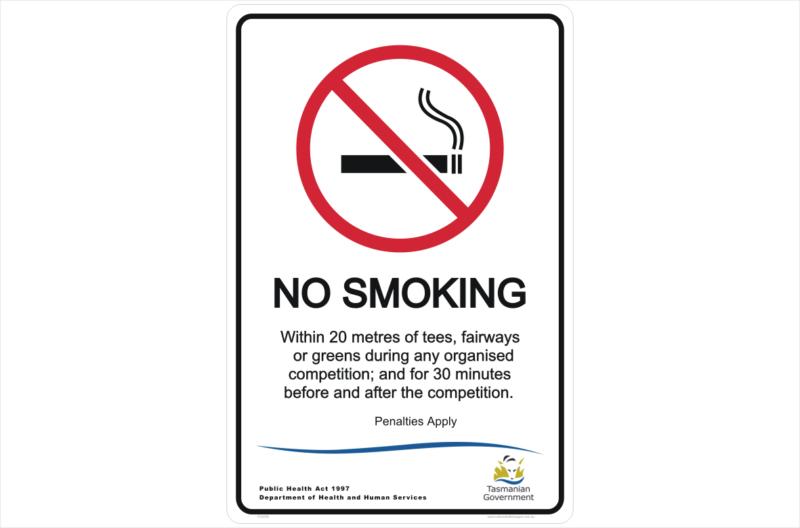 Tas No Smoking Golf course