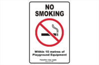 Vic No Smoking within 10 metres Playground Equipment