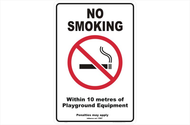 Vic No Smoking within 10 metres Playground Equipment