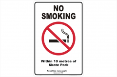 Vic No Smoking within 10 metres of skate park