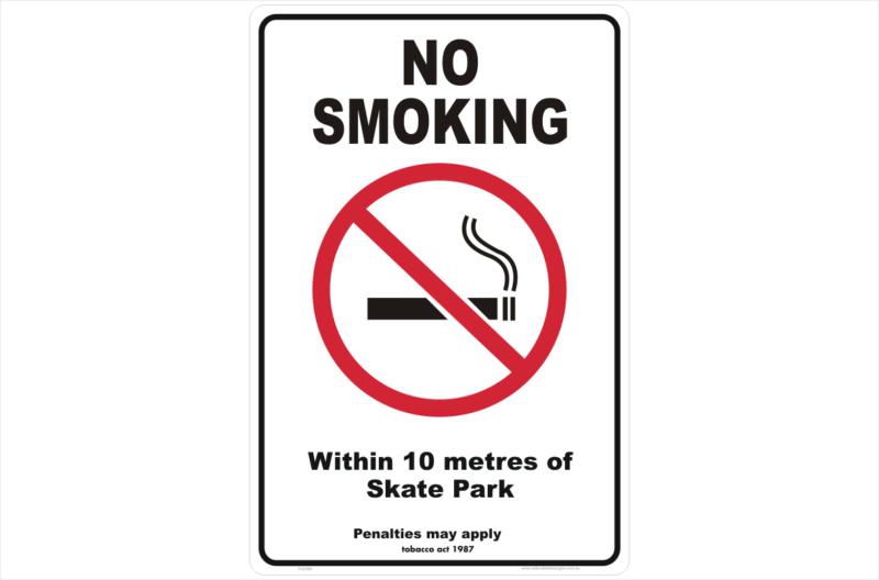 Vic No Smoking within 10 metres of skate park