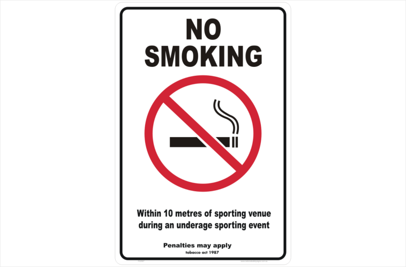 VIC No Smoking 10 Metres sign