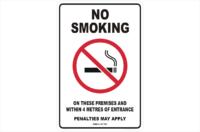 VIC No Smoking Within 4 Metres sign