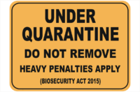 UNDER QUARANTINE sign