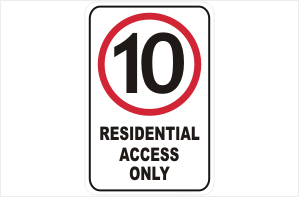 10 KPH Residential Access