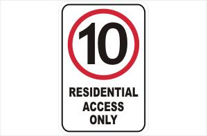 10 KPH Residential Access