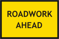 Roadwork ahead Sign