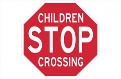 Stop Children Crossing sign
