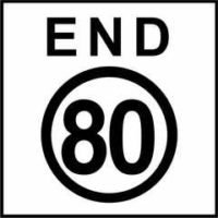 End 80 KPH Sign