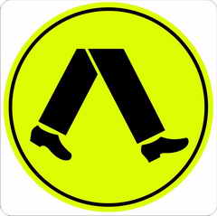 Pedestrian Crossing sign Class 1 Lime