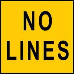 No Lines Sign