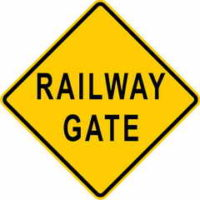 Railway Gate Sign