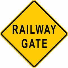 Railway Gate Sign