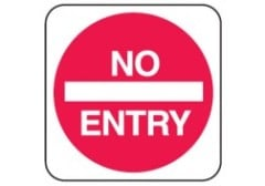 Regulation No Entry Sign