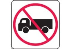 No Trucks pictogram