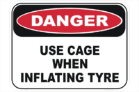 Tyre Explosion Danger Sign