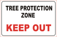 Tree Protection Zone Sign