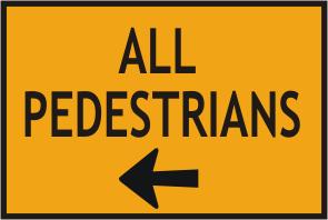 All Pedestrians left arrow
