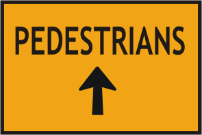 All Pedestrians up Arrow