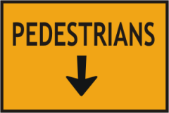 All Pedestrians down arrow