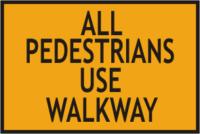 Pedestrians use Walkway