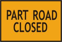 part road closed sign
