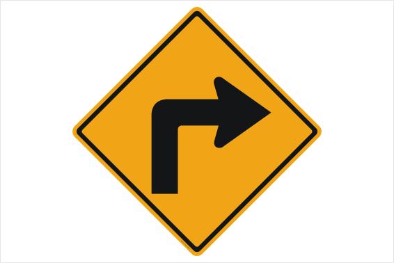 Right corner sign