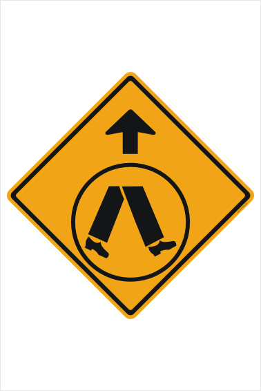 Pedestrian Crossing Ahead sign