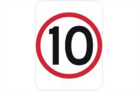 10kph sign