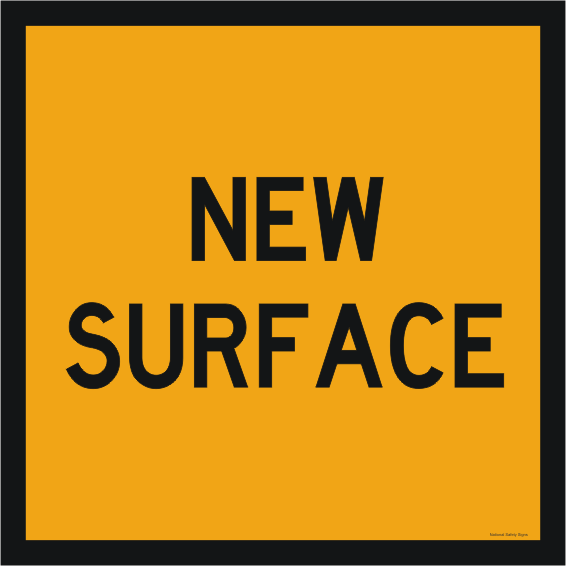 New Surface Roadwork sign