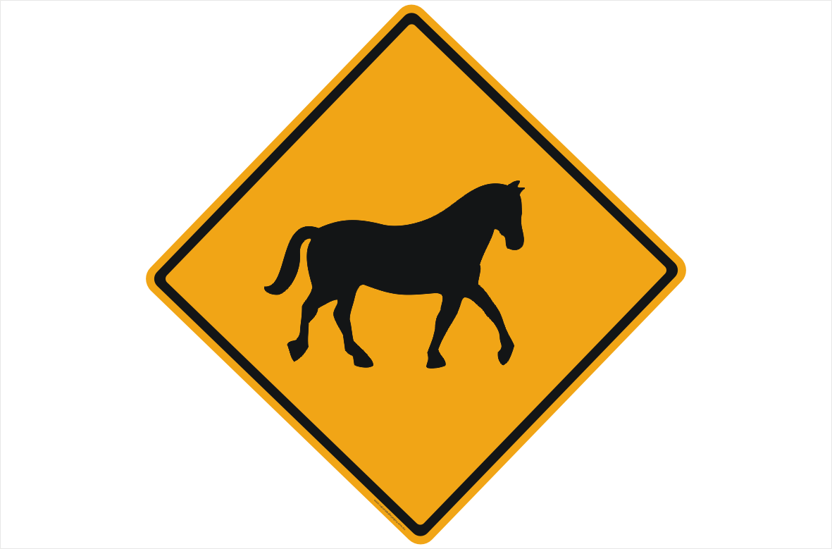 Horse Crossing sign